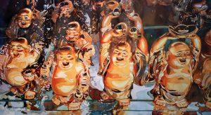 Buddah, statue, art, laughing