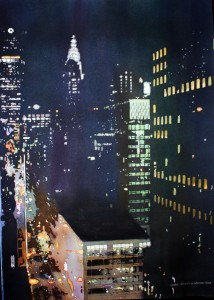 New York City, Chrysler Building, Night Lights, Aerial, Laurie Goldstein-Warren