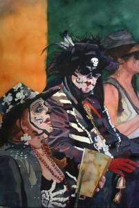 Mardi Gras, Zulu, Belles, Skeletons