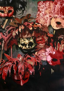 Masks, Mardi Gras, Red, Black